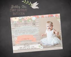 country shabby chic vintage flowers bird invite first