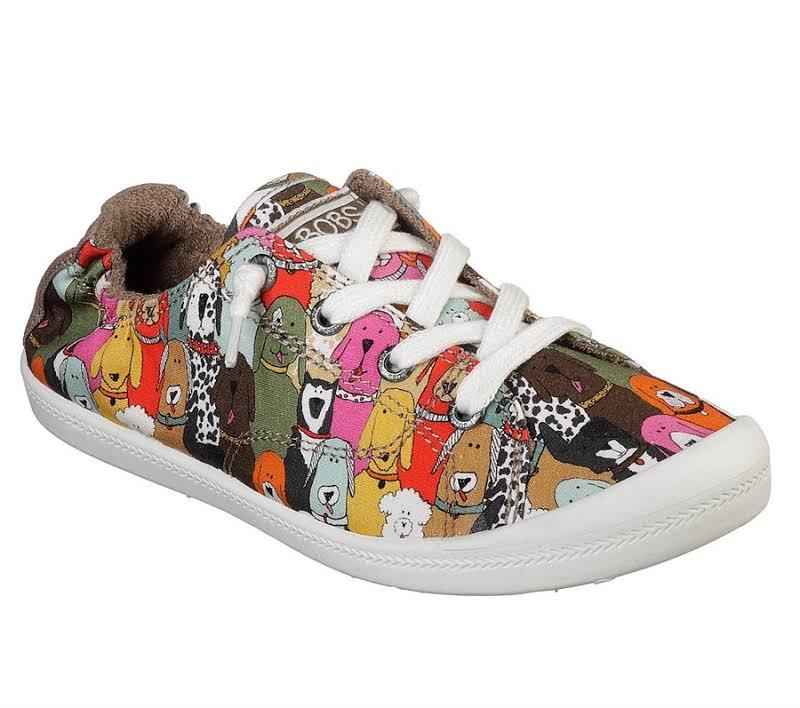 Skechers BOBS Beach Bingo Dog House Party Sneaker, Adult,
