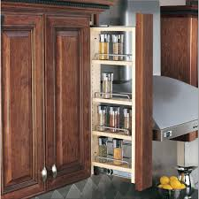 Kitchen Cabinet Spice Organizers Rev A Shelf 30 In H X 3 In W X 11 13 In D Pull Out Between