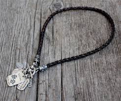 braided leather necklace images Braided leather with fancy toggle clasp jpg