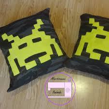 Nerd Home Decor Retro Gaming Cushion Pdf Sewing Pattern Gift For Gamer Alien