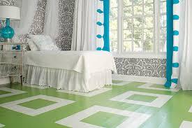 Painted Floors With Modern Style - Bedroom floor