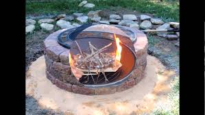 Brick Firepit Diy Outdoor Brick Pit Kits Design With Grill In The Backyard
