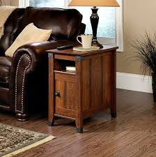Living Room End Tables With Storage Side Table Drawer Living Room Furniture Wood Shelf Storage Mission