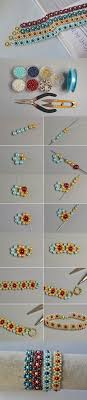 pearl bracelet tutorials images Making fresh colored pearl beaded flower bracelets seed bead jpg