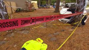 neighbors complain some of these gory halloween decorations go too