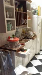 wonderful miniature kitchen cabinet pantry w filled jars by