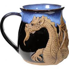 Dragon Coffee Cup Mugs U2013 Always Azul Pottery