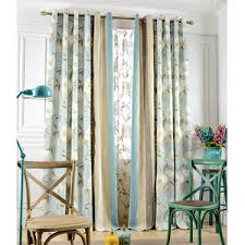 Red Blue Curtains Modern Floral Curtains Blue Red Yellow Floral Curtains