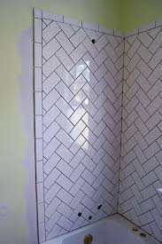 Subway Tile Ideas For Bathroom by 25 Best Herringbone Subway Tile Ideas On Pinterest Herringbone