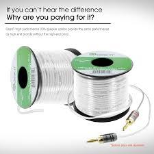 gearit 14 gauge speaker wire 500 feet 152 meters white