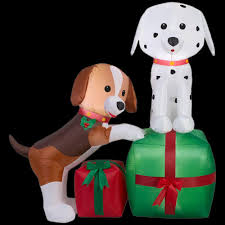 lighted dog christmas lawn ornament dogs outdoor christmas decorations christmas decorations the