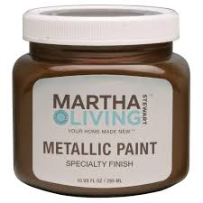 martha stewart living 10 oz cast bronze metallic paint 259287