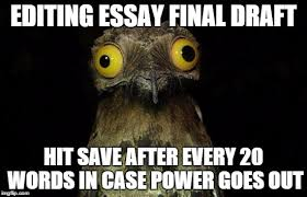 Meme Editing - i do this every time i have a major paper due imgflip