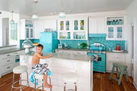 retro kitchen island kitchen appliances retro look kitchen design with turquoise