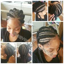 French Braid Hairstyles With Weave Feed In Braids Braids French Braids Ghana Braids Weave Braids