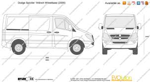 the blueprints com vector drawing dodge sprinter 144inch wheelbase