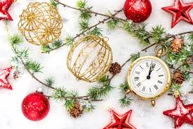 clock happy new year merry time ornaments