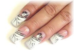 picture 5 of 11 white french tip acrylic nail designs ideas