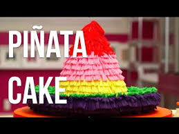 cake how to how to make a piñata sombrero out of cake vanilla cakes rainbow