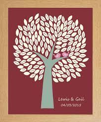 unique guest book wedding birds signature tree personalised wedding keepsake