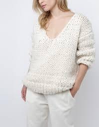 white wool sweater way wool sweater knitting kit wool and the