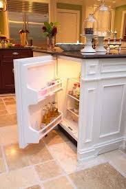 mini kitchen island build a mini fridge in your kitchen island 22 kitchen islands