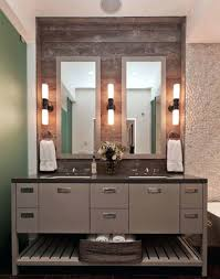 Framed Bathroom Mirror Mirror With Sconces Full Wall Mirror With Sconces Attached On