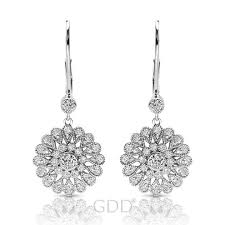 White Gold Diamond Chandelier Earrings Earring Collection U2013 Get Diamonds Direct