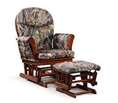 Fabric Glider Recliner With Ottoman Artiva Usa Home Deluxe Camouflage Fabric Cushion Cherry Wood