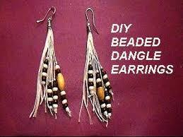 earring dangles diy beaded dangle on string earrings jewelry