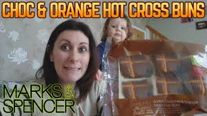 hot buns review marks spencer choc orange hot cross buns review