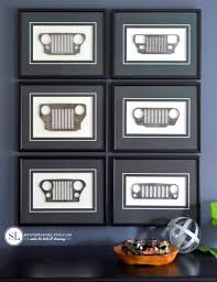jeep metal art framed jeep grilles mini replica custom wall art bystephanielynn