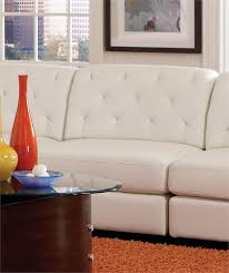Modular Leather Sectional Sofa White Modular Sectional Quinn Collection