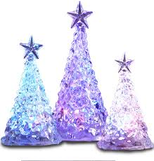 3 color changing led acrylic trees fao schwarz