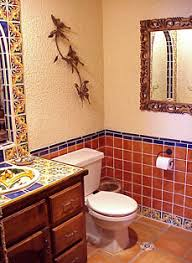 mexican tile bathroom designs mexican style bathrooms mexican style powder room deltec