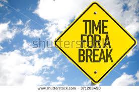 on break sign for desk time break sign sky background stock photo royalty free 371268490