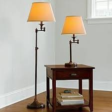 Bronze Swing Arm Table Lamp Charming Malone Brass Swing Arm Table Lamp Floor Lamp One Kings