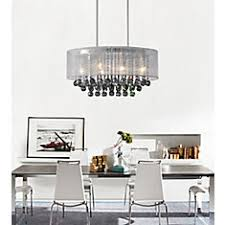 Chandelier With White Shade Crystal World Inc Round 20 Inch Pendent Chandelier With White