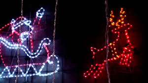 lighting show display spectacular large santa claus and