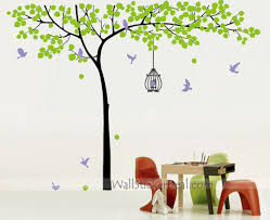 tree with birds and birdcage wall stickers wallstickerdeal