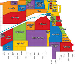 chicago map side chicago neighborhood map town realty