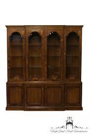mahogany china cabinet furniture high end used furniture henredon 18th century portfolio mahogany