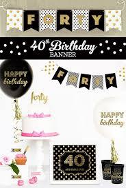 40th birthday decorations birthday decorations 40 year