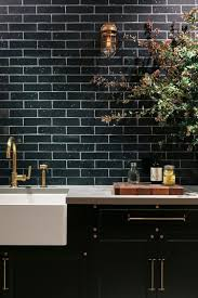 daltile black subway tile white subway tile backsplash kitchen