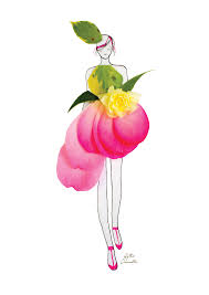 real petals creative fashion design sketches using real flower petals