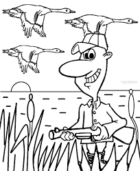 printable hunting coloring pages kids cool2bkids