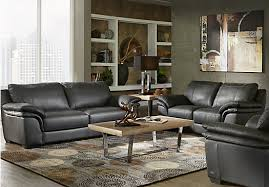black leather living room picture of cindy crawford home perugia black leather 5 pc living
