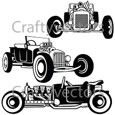Old Ford Truck Vector - rat rod t bucket cars svg vector files from craftyvectors on etsy