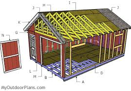 16x24 shed plans myoutdoorplans free woodworking plans and